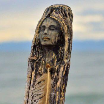 Debra Bernier's driftwood sculpture